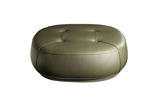 Pouf Esedra Poltrona Frau : Leather Pouf The Collection