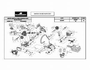 Mcculloch 1640bkx Chainsaw Service Parts List