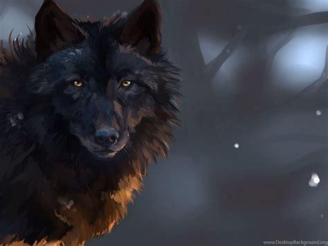 Digital Wolf Wallpaper by Staring Black Wolf Wallpapers Digital Wallpapers