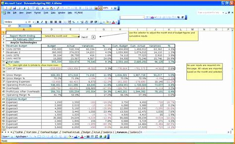 microsoft excel budget template exceltemplates