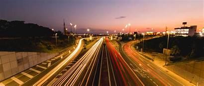 Lines Road Exposure Distance Glow Wide 1080p
