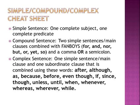 Simplecompoundcomplex Sentences  Ppt Download