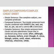 Simplecompoundcomplex Sentences  Ppt Download