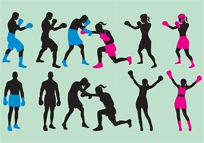 Silhouette Woman Boxing Clipart Silhouettes Silhouetten Boxe