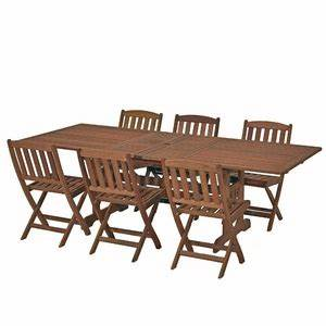 Salon De Jardin Acapulco : salon de jardin bois table 6 fauteuils equipements et mobiliers de jardin comparer les prix ~ Teatrodelosmanantiales.com Idées de Décoration