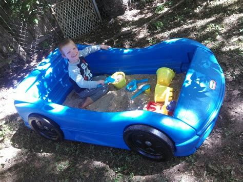 Race Car Bed Converted Into Sandbox