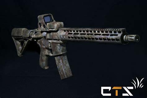 paint custom job camo airsoft rifle m4 kwa ar assault upgrade tactical rifles cts firearms lightweight built jobs gun guns