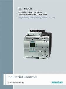 Manual Pcs7 Library Sirius Soft Starter En
