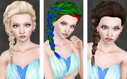 Side Braid Hair Sims Retexture Custom Female
