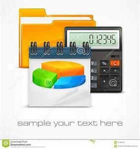 Calculator  U0026 Diagram Stock Vector  Illustration Of