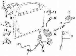 Chevrolet Cruze Door Lock Operating Rod  Black  Handle