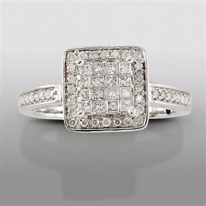 white gold certified engagement ring stylish from sears With david tutera wedding rings at sears