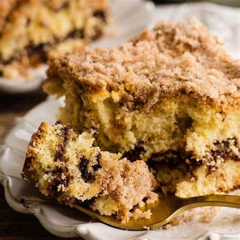 This is a delicious coffee cake. Chocolate Chip Sour Cream Coffee Cake Recipe   Ashlee Marie - real fun with real food