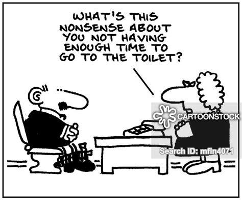toilet break cartoons  comics funny pictures