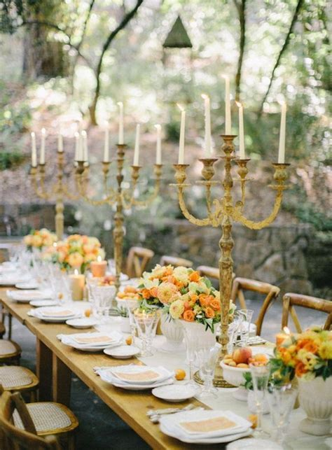 rustic wedding reception table ideas Once Wed