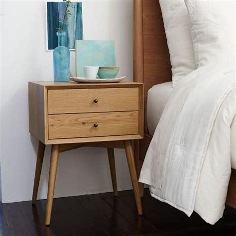 mid century nightstand mid century nightstand oak west elm