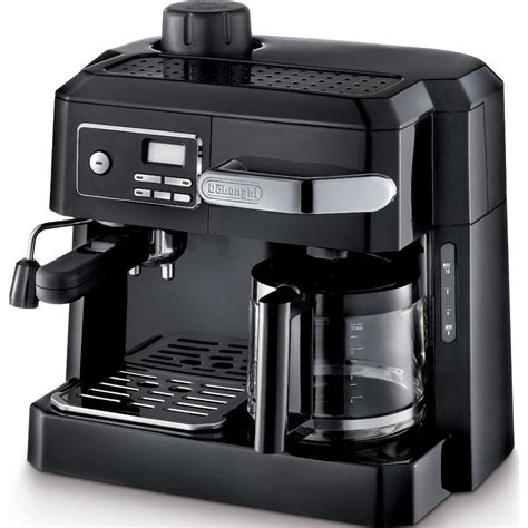 Machine A Expresso Delonghi Bco320t Combination Espresso And Drip Coffee Black Combination Coffee