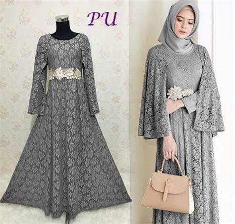 Baju Gaun Pesta Ratih Full Brokat  Model Gamis Modern