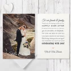 christmas wedding programs modern wedding thank you photo card with free custom