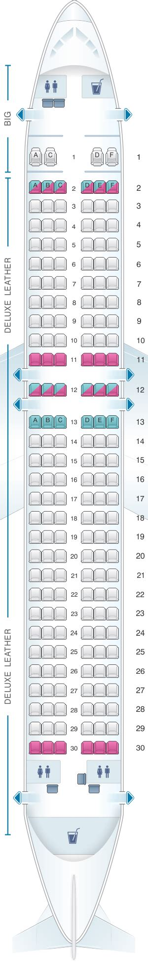 plan des sieges airbus a320 seat map spirit airlines airbus a320 178pax seatmaestro