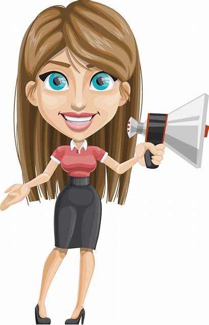 Character Vector Female Loudspeaker Characters Eps Format