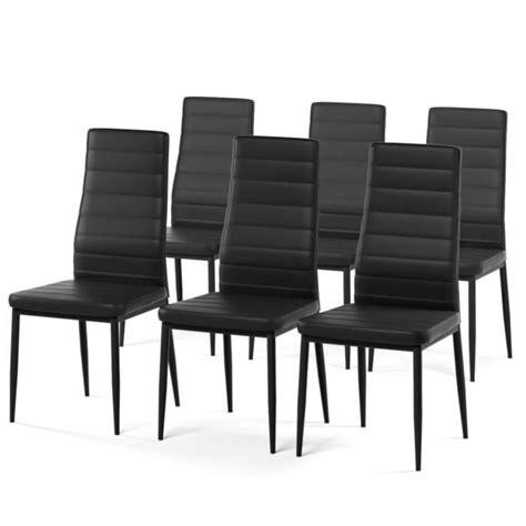lot de 6 chaises de salle a manger sam lot de 6 chaises de salle 224 manger noires achat vente chaise structure m 233 tal