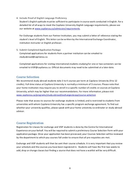 Capilano University Study Abroad Student Handbook