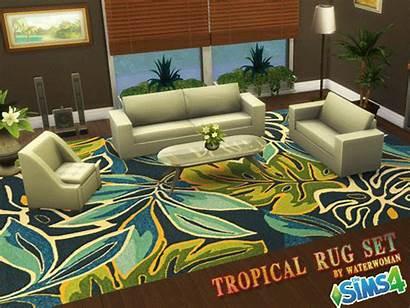 Tropical Rugs Sims Akisima Waterwoman Cc Objects