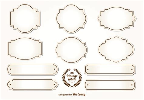 Free vectors and icons in svg format. Blank Vintage Labels - Download Free Vectors, Clipart ...