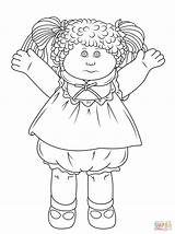 Cabbage Patch Coloring Doll Pages Dolls Printable Rag Colouring Drawing Sheets Bing Sheet Cartoon Paper Children Books sketch template