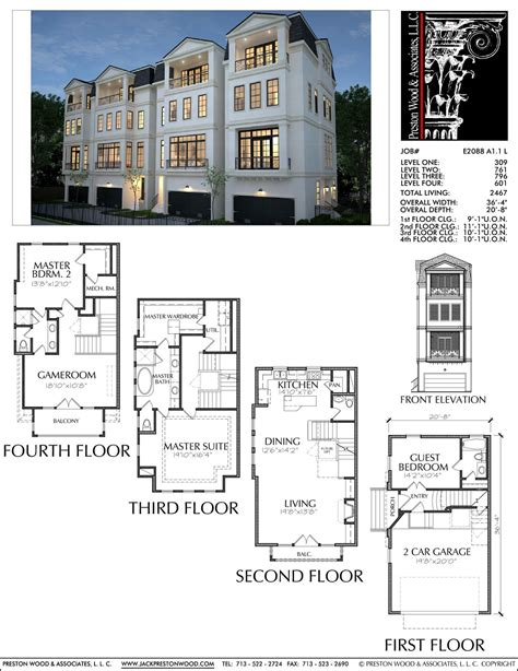 3 Bedroom Townhouse Plans Australia by Townhome Plan E2088 A1 1 Develop It In 2019 House