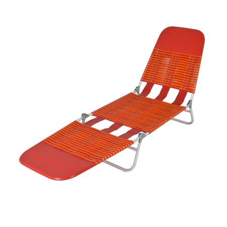 mainstays folding jelly beach lounge orange walmartcom