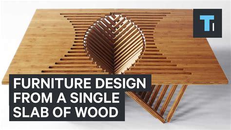 furniture design   single slab  wood youtube
