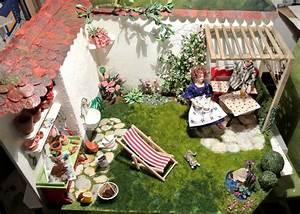 edith kudlovic miniaturen gartenstuck fimo garten With französischer balkon mit japanischer garten miniatur