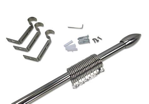 bastone tenda acciaio bastone in acciaio per tenda regolabile diametro 19 mm