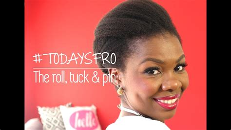 todaysfro  roll tuck pin   hair african