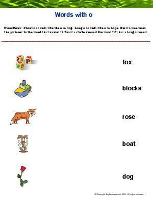 worksheet words  oo practice identifying