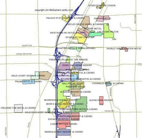 karte von las vegas strip las vegas strip casino map