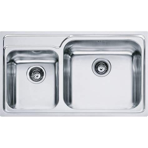 Lavelli Incasso Franke lavello da incasso franke 8580796 gax 620 2 vasche acciaio