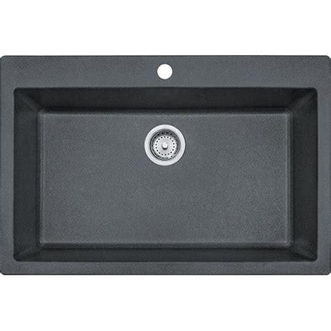 franke granite kitchen sink franke dig61091 gra primo 33 inch dual mount single bowl