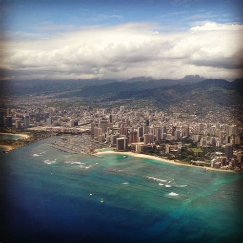 Snagged This Out Of The Plane Window Honolulu Hawaii