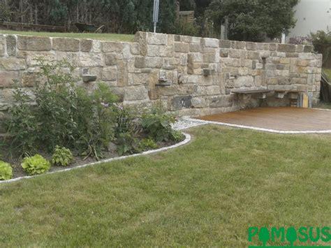 Pomosus Garten Und Landschaftsbau > Stützmauer Aus Sandstein