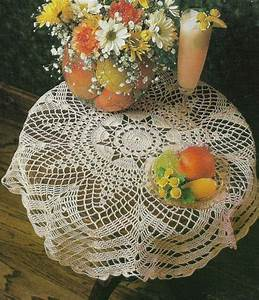 Scalloped Table Topper Doily Home Decor Digest Size