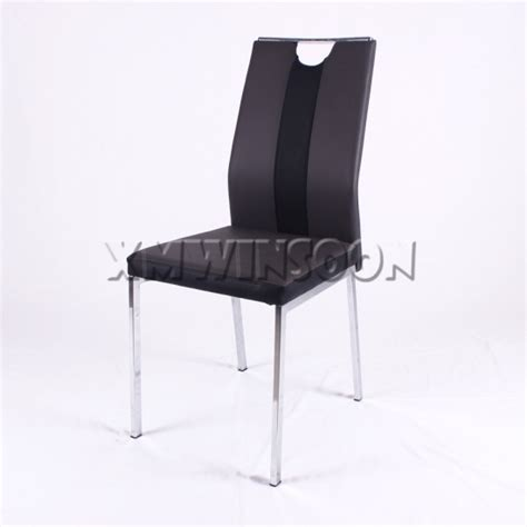 modern black metal and leather dining room chairs ac6321