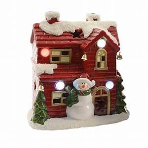 Personnage Pour Village De Noel : bonhomme de neige lumineux et sa maison village de noel eminza ~ Melissatoandfro.com Idées de Décoration