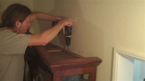 how to secure bookcase to wall how to secure your furniture to a wall easy and cheap