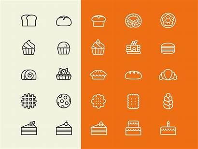 Icons Baking Bakery