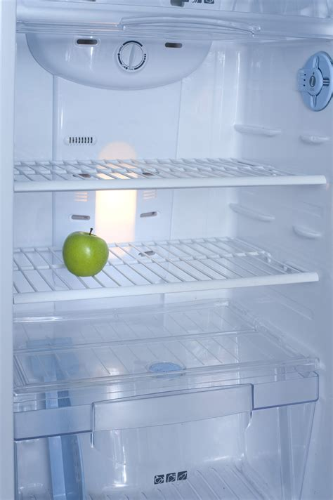Free Stock Photo 8219 Interior of a fridge with a green