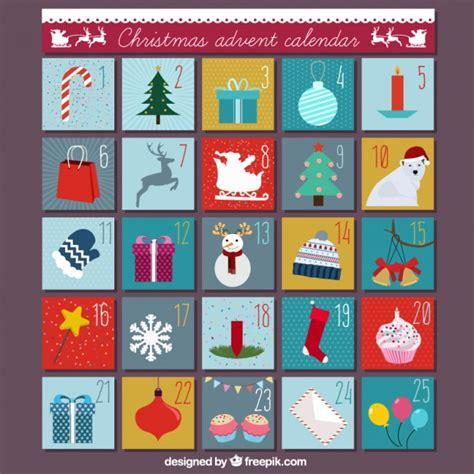 christmas advent calendar template psd christmas advent calendar vector free download