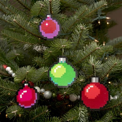 8 bit christmas ornaments i create pixelated ornaments for your retro tree bored panda